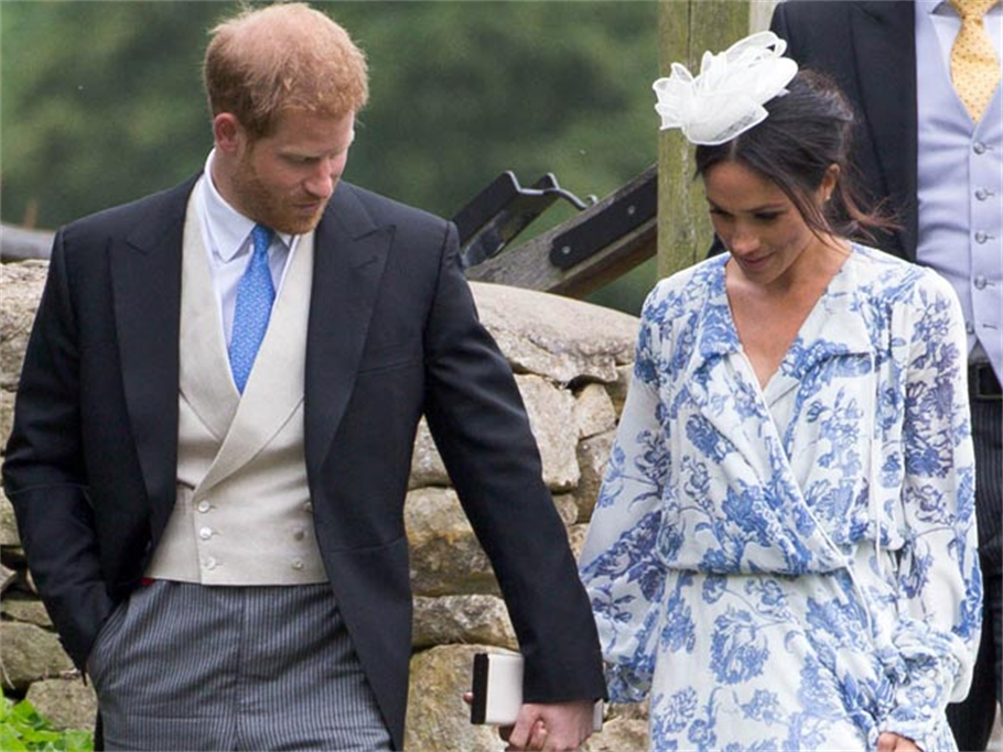 OUCH!!! MEGHAN MARKLE NEARLY FALLS!!(VIDEO)