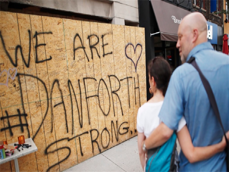 Danforth Shooting: Mourners Gathered Along Toronto's As Assailant's Identity Released!!