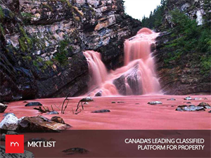 It's Not an Illusion, Canada Has an Incredible Pink Waterfall!