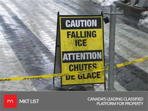Watch Out for the Falling ice Canada, CN Tower is closed due to heavy snowfall!