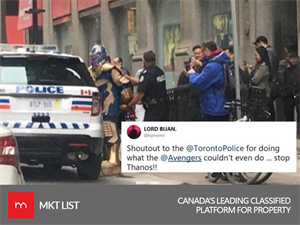 NEWS UPDATE! Viral Pictures of Thanos getting arrested by the police in Toronto go Viral!