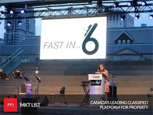 Torontonians get ready for fast in the 6 arranged at the Nathan Phillips Square!