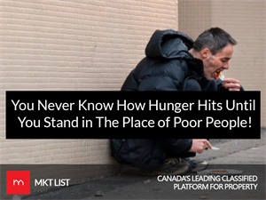You Never Know How Hunger Hits Until You Stand in The Place of Poor People!