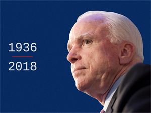 U.S. Senator John McCain Dies at the age of 81